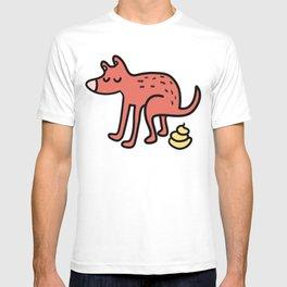 Pooping dog T-shirt