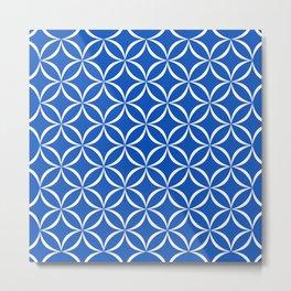 Blue Sapphire Abstract Geometric Design Metal Print