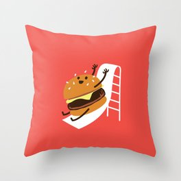 Slider Burger Throw Pillow