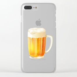 Ice Cold Beer Pattern Clear iPhone Case