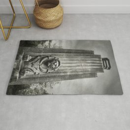 Vancouver Raincity Series - Lion at the Gate - Black and White Rug