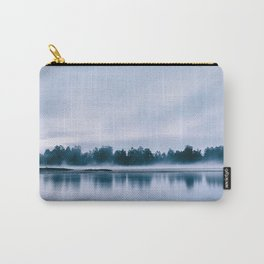 Peaceful blue morning in the crystal clear waters of the river Carry-All Pouch