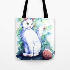 Playing Kitty Tote Bag