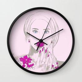Pinkish Wall Clock