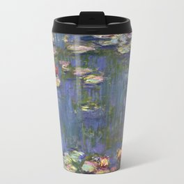 1916-Claude Monet-Waterlilies-200 x 200 Travel Mug