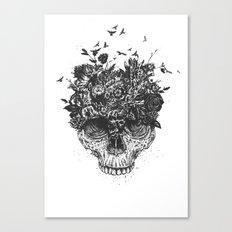 My head is a jungle (b&w) Canvas Print