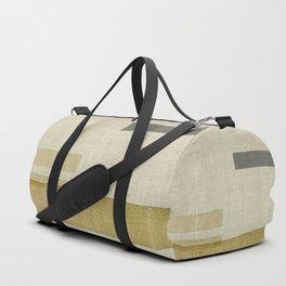 """Burlap Texture Natural Shades"" Duffle Bag"
