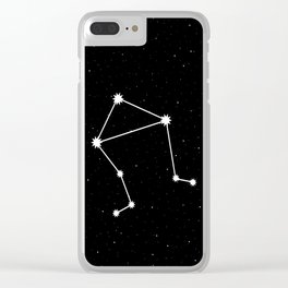 Libra Star Sign Night Sky Clear iPhone Case