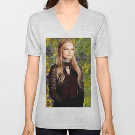 Portrait of Daisy Coleman ;  Victims Rights Advocate; Boycott Maryville Unisex V-Neck