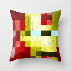 battle-damaged iron man Throw Pillow