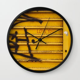 East Village Love Wall Clock