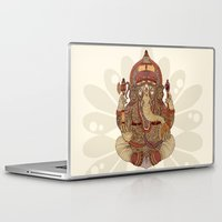 ganesha Laptop & iPad Skins featuring Ganesha: Lord of Success by Valentina Harper