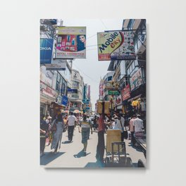 Streets of the Market, Colombo, Sri Lanka Metal Print