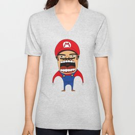 Screaming Mario Unisex V-Neck