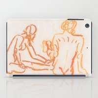 nudes iPad Cases featuring Nudes looking away by CharlieValintyne