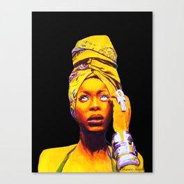 Erykah Badu Painting Canvas Print