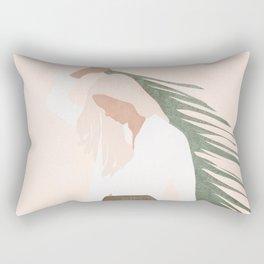 Holding a Palm Leaf Rectangular Pillow