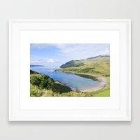 nan lawson Framed Art Prints featuring Camas nan Geall Ardnamurchan Scotland by Chris Thaxter