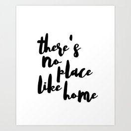 No Place Like Home Decal - Di Cut Decal - Home/Laptop/Computer Art Print