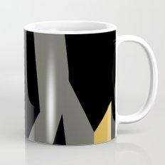 Black yellow and gray abstract Mug