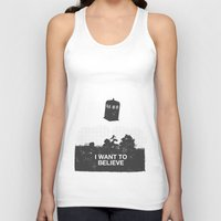 i want to believe Tank Tops featuring I Want To Believe by Nicolas Beaujouan