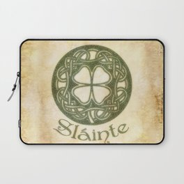 Slainte or To Your Health Laptop Sleeve