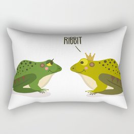 Ribbit Frogs Rectangular Pillow
