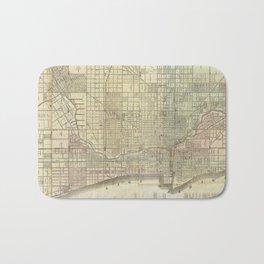 Vintage Map of Chicago (1857) Bath Mat