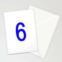 NUMBER 6 (BLUE-WHITE) Stationery Cards