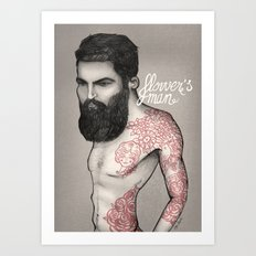 Flower´s man  Art Print