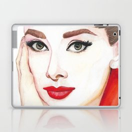 Audrey Hepburn Portrait Laptop & iPad Skin