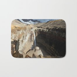 Mountain river, view of waterfall on volcano Bath Mat