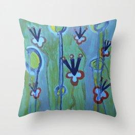 Blue Jolt Throw Pillow