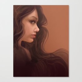 Coffee Brown Canvas Print