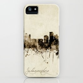 Johannesburg South Africa Skyline iPhone Case