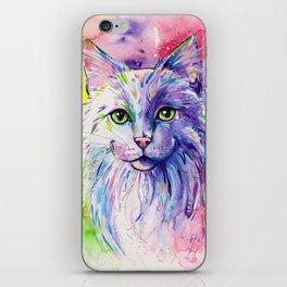 Not so white cat iPhone Skin