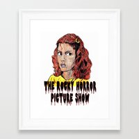 rocky horror picture show Framed Art Prints featuring The Rocky Horror Picture Show by AdrockHoward