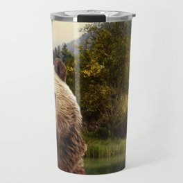 Brown Bear and Forest Travel Mug