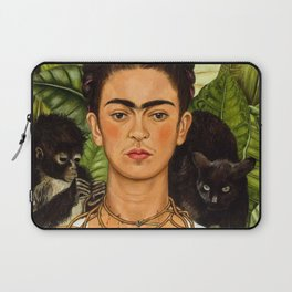 SELF PORTRAIT WITH THORN NECKLACE AND HUMMING BIRD - FRIDA KAHLO Laptop Sleeve