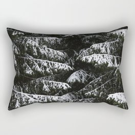 Melting of the snow in forest. Rectangular Pillow