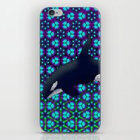 orca iPhone & iPod Skins featuring Orca by Dusty Goods