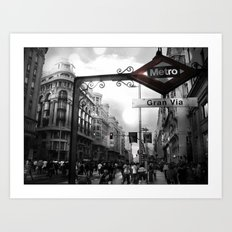 Gran Via-Madrid Art Print