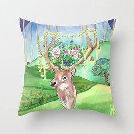 Magic Forest Friend Throw Pillow