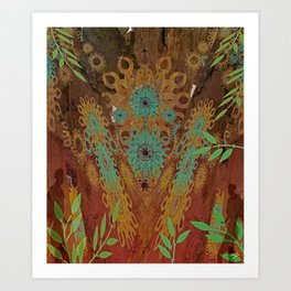 Woodhenge  Art Print