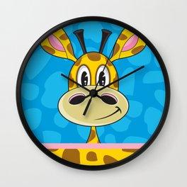Cute Cartoon Giraffe Wall Clock