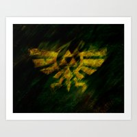 triforce Art Prints featuring Triforce by Ralf Crawford