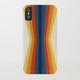 Bright 70's Retro Stripes Reflection iPhone Case