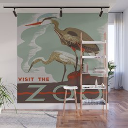 Visit the Zoo - African Birds Wall Mural