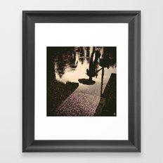 Puddle Jump inverted Framed Art Print