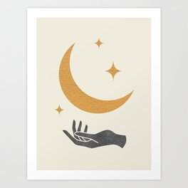 Moonlight Hand Art Print